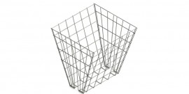 Double sided meshed hayrack